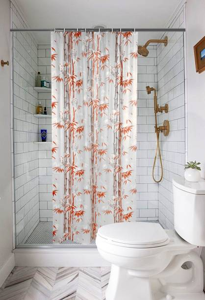 E Retailer 21336 Cm 7 Ft PVC Shower Curtain Single