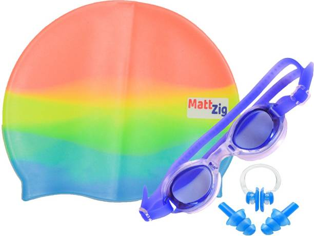 d325cf851c MattZig ACE (One Cap + One Goggle + Ear Plug + Nose Clip) Swimming
