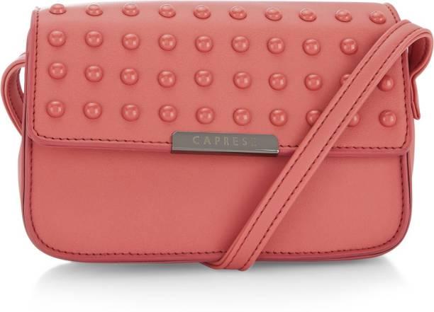 Caprese Women Casual Pink PU Sling Bag