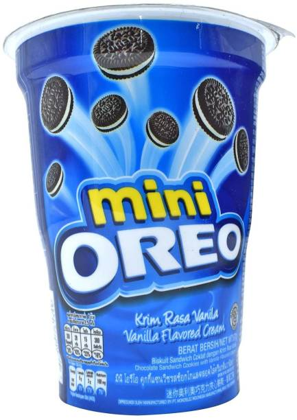 OREO Mini, Vanilla Flavored Cream - 67g Cream Filled