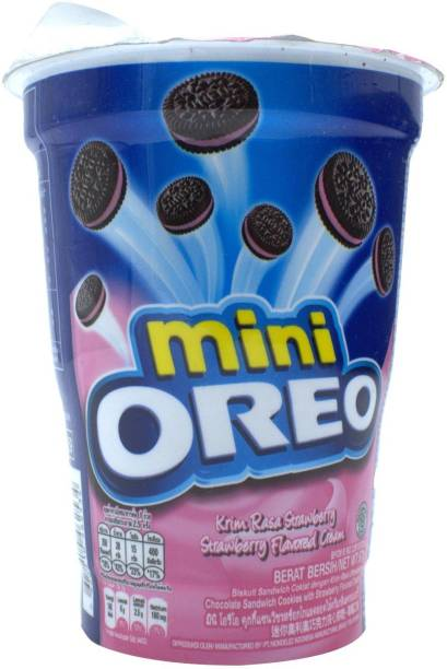 OREO Mini, Strawberry Flavored Cream - 67g
