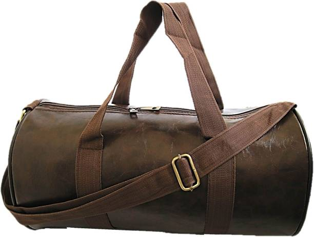Muccasacra Trendy Silky Brown Weekender Duffel Gym Bag with 3 compartments Gym  Bag f98e3f8844