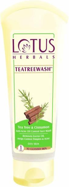 LOTUS HERBALS Teatreewash & Cinnamon Anti Acne Oil Control Face Wash