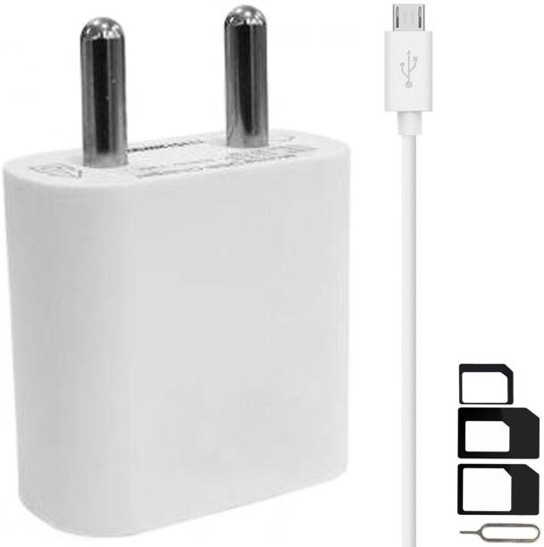 GoSale Wall Charger Accessory Combo for Videocon Infinium Z45 Dazzle, Graphite V45DB, Z55 Dash, Octa Core Z55 Delite, Z45 Amaze, Infinium Z51 Punch, Infinium Z52 Inspire, Z30 Pace, Infinium Z30 Aire, Infinium Z40 Quad, Infinium Z51 Nova Plus, Thunder Plus 2 V50DC, A48 Charger With 1 Meter Micro USB Charging Data Cable And SIM Adapter