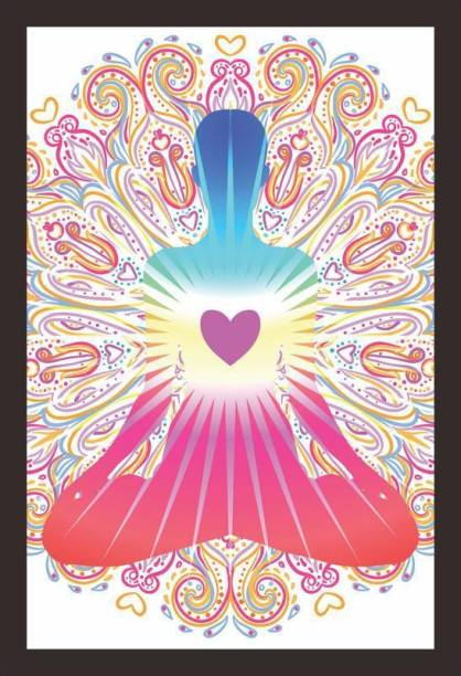 e5d74d28a92b8 Mad Masters Mad Masters Heart Chakra concept. Inner love, light and peace.  Silhouette