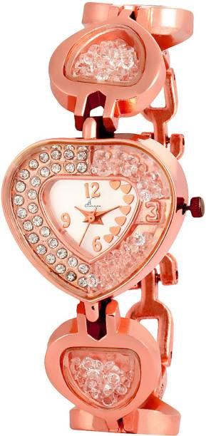 0bfeaec419 Jack Klein Stylish & Elegant White Dial Golden Metal Strap Analog Watch for Women  Watch -