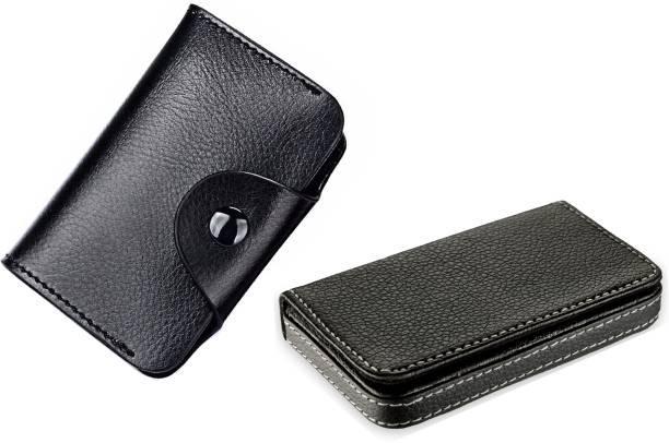 Flipkart SmartBuy Combo of 1 Black Leatherite for Multi Purpose light weight Card Holder Special Edition