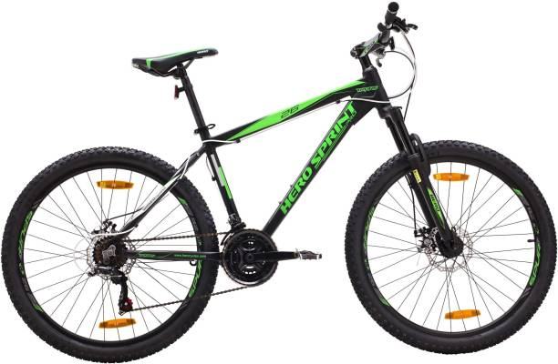 HERO SPRINT PRO TRANS 26x17 ALLOY 21S BK/GN 26 T Mountain Cycle