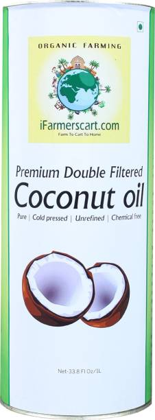 iFarmerscart Coconut Oil Double Filtered - Tin Coconut Oil Tin