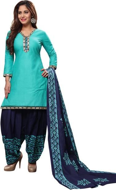 507fa7eb0b FabTag - Fashion Valley Cotton Printed, Embellished Salwar Suit Dupatta  Material