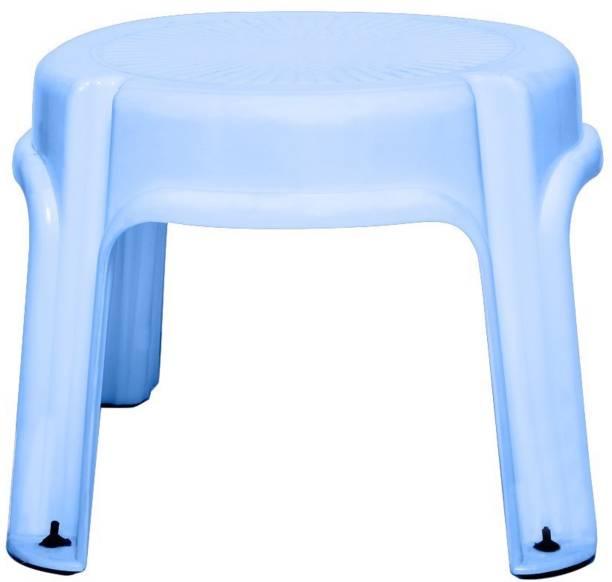 Clastik Multi Purpose Plastic Round Stool (4 Legs) Blue Hospital Food Stool