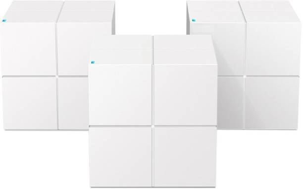 TENDA MW6 (3-Pack) Whole Home Mesh Router WiFi Plug and Play 1200 Mbps Mesh Router