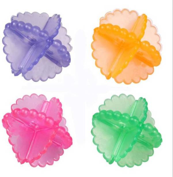pinkparifashion Multicolor Laundry ball Pack of 4 Detergent Bar