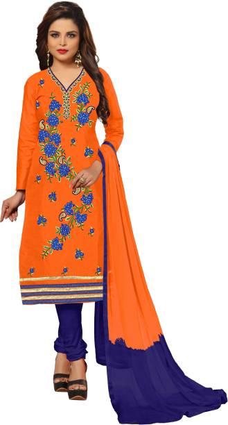 050d0f5da7 UJJWAL CREATION Cotton Embroidered Salwar Suit Material