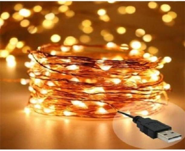 ec5a639d85c9 Copper String LED light 5 MTR 50 LED USB operated Decorative Lights 208.66  inch White Rice