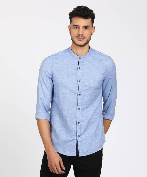 d8d38b6ff6 Mandarin Collar Shirts - Buy Mandarin Collar Shirts Online at Best ...