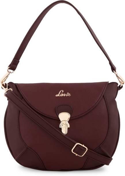Lavie Women Casual Brown Pu Sling Bag