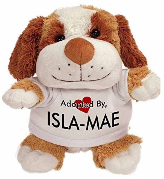 4c613edf1f6 Generic Advanta Products Adoptedby Tb2 Isla-Mae Cuddly Dog Teddy Bear  Wearing A Printed Named