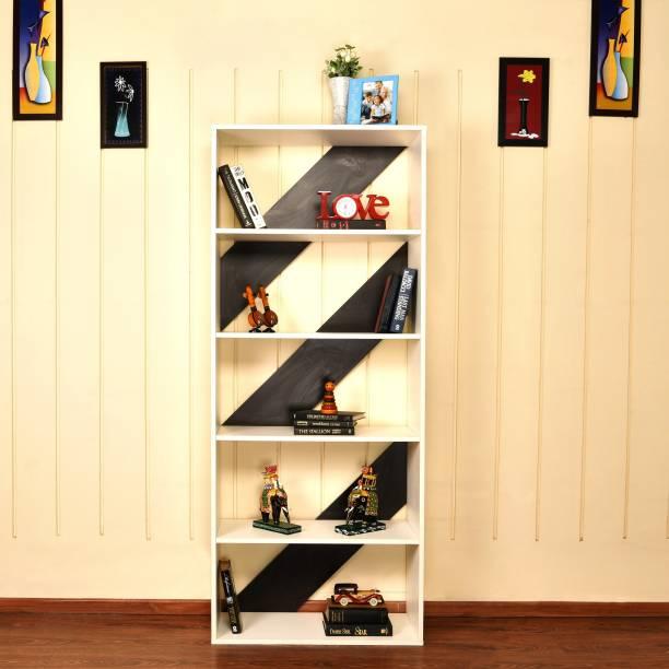 Home Full Engineered Wood Open Book Shelf