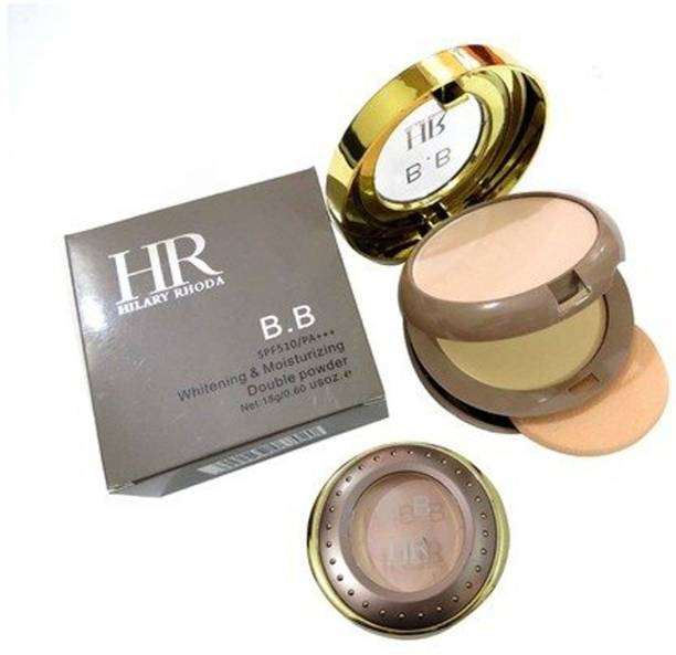 Hilary Rhoda BB SPF510/PA+++ Whitening & Moisturizing Double Powder -Beige Compact