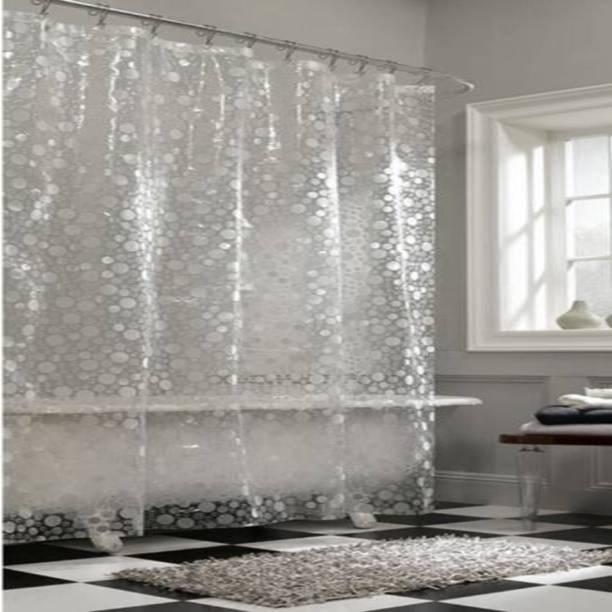 Khushi Creation 21336 Cm 7 Ft PVC Shower Curtain Pack Of 2