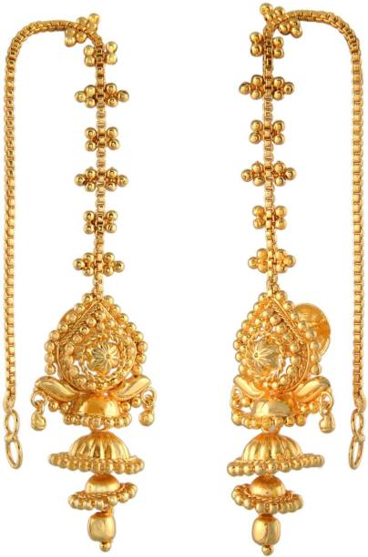 Urbanela Traditional Ethnic One Gram Gold Plated Dangler Earring For Women Girls With Guaranteed