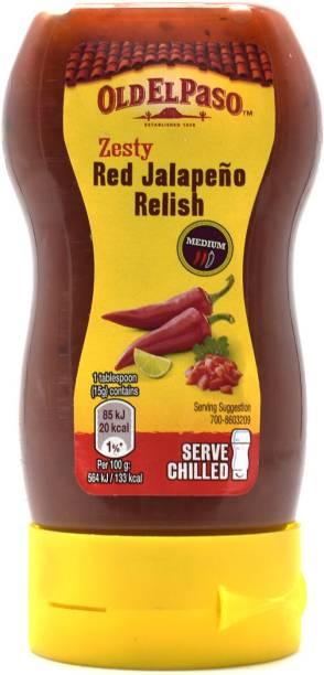 Old ELPaso Zesty Red Jalapeno Relish, Medium - 255g Sauce