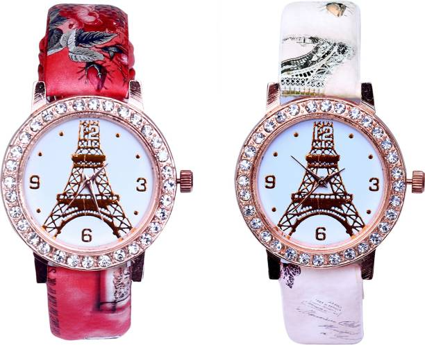 bf9f2cd19 LEBENSZEIT New Arrival Rose Gold Set Of Two Combo Watch For Women 6364 Watch  - For