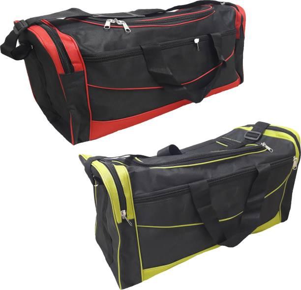 Aqeeq Jumbo Offer Combo 1+1 Travel Duffle AirBag Red   Green Travel Duffel  Bag aade136b5fe67