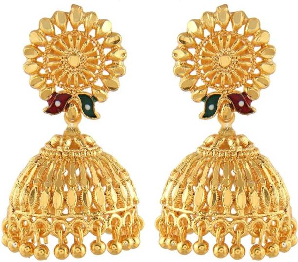 Urbanela Traditional Ethnic One Gram Gold Plated Jhumki Earring For Women S With Guaranteed