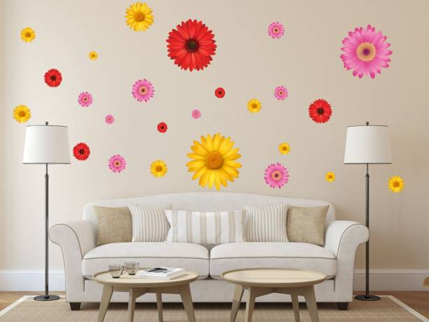 Happy Walls Colorful sunflowers