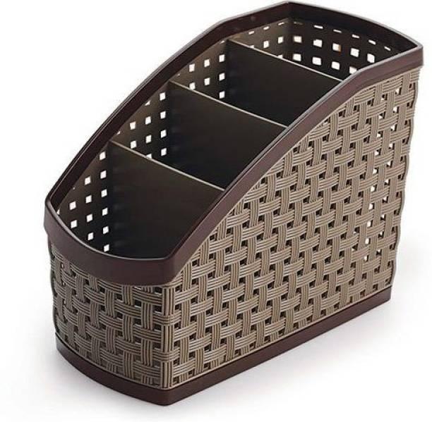 nakoda 4 Compartments Plastic Bolt Stand - Desk Organiser - Multiutility Holder