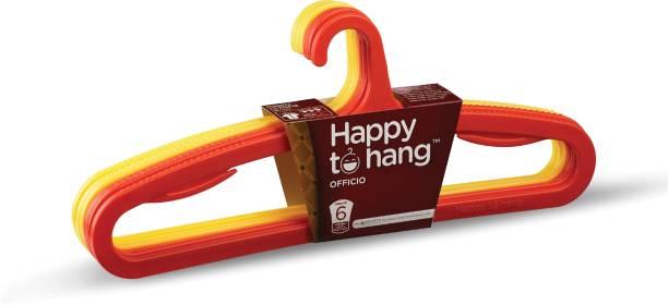 Happy to Hang Officio Plastic Pack of 6 Hangers