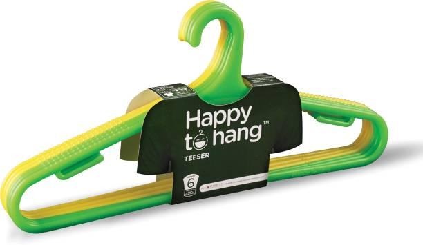 Happy to Hang Teeser Plastic Pack of 6 Hangers