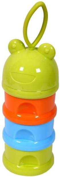 GURU KRIPA BABY PRODUCTS Present Eco Friendly BPA Free 3 Layers Plastic Milk Powder Baby Food Storage Container For Travel Time Bowl Set Multi Storage Unbreakable Portable Infant Spill Proof Tiffen Box (Yellow) (Pack of 1, Yellow)