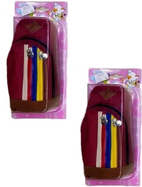 S2KCrafts S2KC-1334 S2KC-1334 Maroon   maroon bag pouch Art Polyester  Pencil Boxes 184ab07de70a6