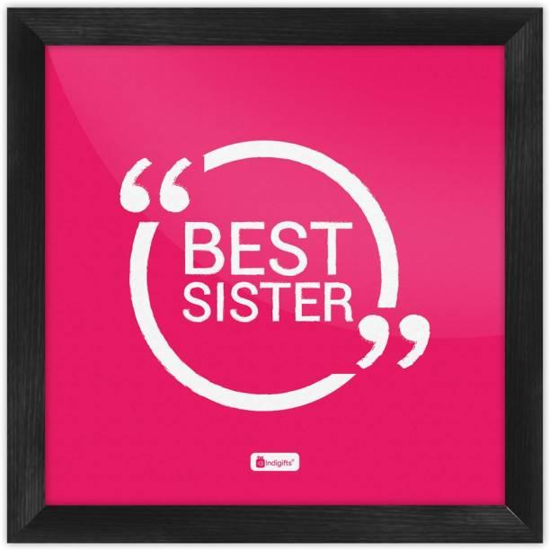 Rakhi Gift, Raksha Bandhan Gift, Gifts for Sister, Birthday Gifts for Sister, Poster for Walls_S-PSFSWBK01SQ08-SIS16005 Paper Print