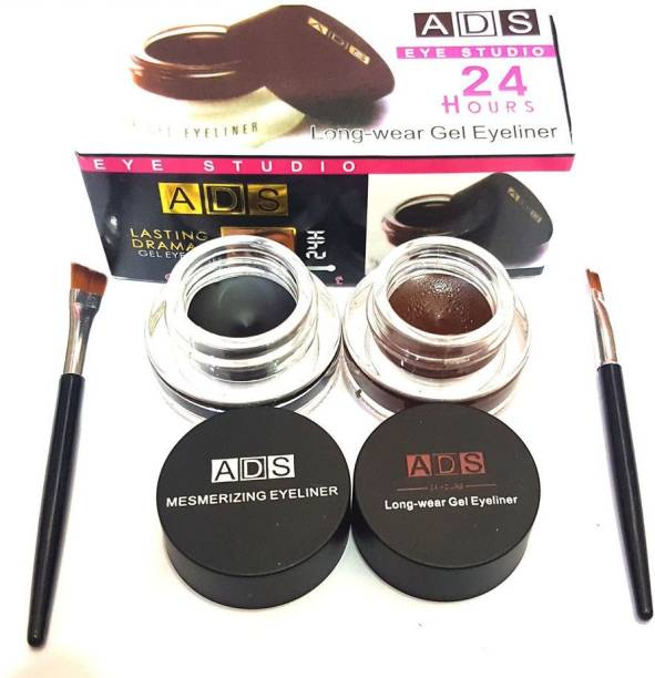 ads gel eyeliner black & brown 6 g