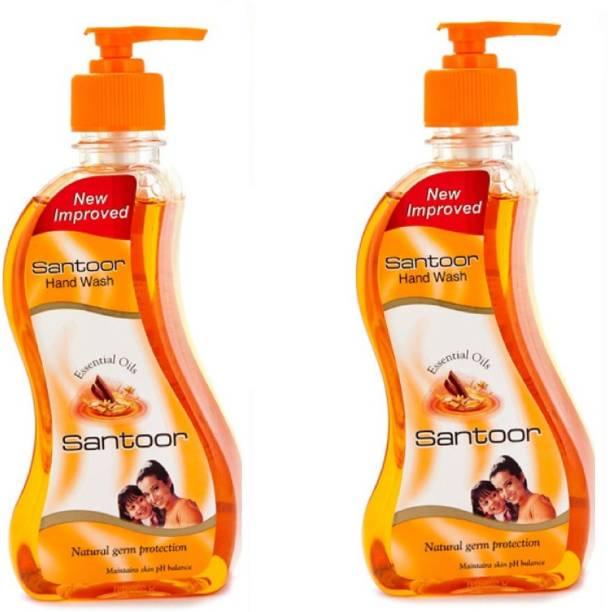 santoor Sandalwood & Tulsi Hand wash Get One By One Hand Wash Pump Dispenser