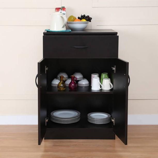 Home Full Engineered Wood Crockery Cabinet