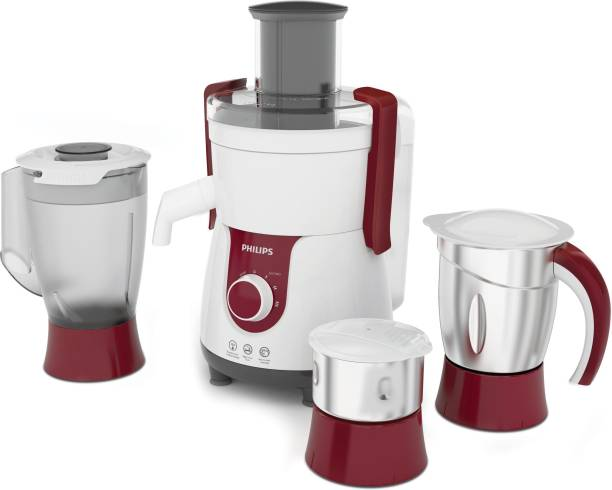 PHILIPS HL 7715 HL7715/00 700 W Juicer Mixer Grinder (3 Jars, Red)