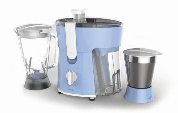 PHILIPS Daily Collection HL 7575/00 / hl7575/01 600 W Juicer Mixer Grinder (2 Jars, Blue)