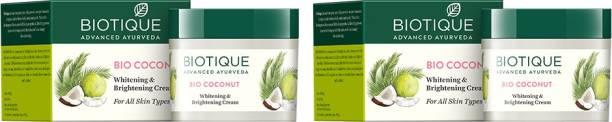 BIOTIQUE Bio Coconut Whitening and Brightening Cream - Pack of 2