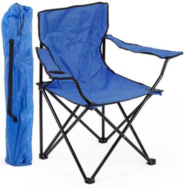 Inditradition Folding Garden Chair   Ideal for Camping, Travelling, Lawn, Patio, Perfect for Adult (Blue) Metal Outdoor Chair