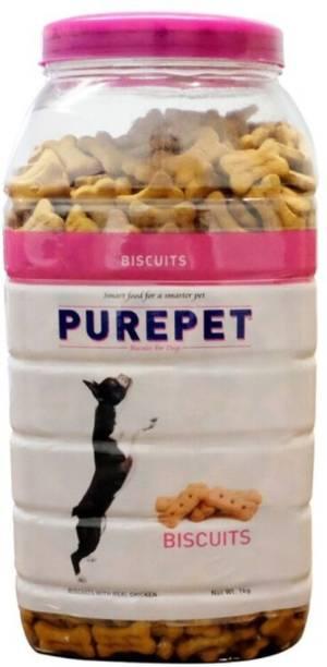 purepet Mutton Flavour Real Biscuit Chicken Dog Chew