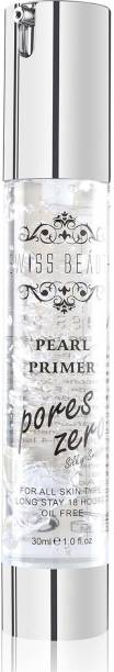 Swiss Beauty Oil Free 18 Hours Long Stay Pearl Primer Pores Zero Silky & Smooth ~ For All Skin Type Primer  - 30 ml
