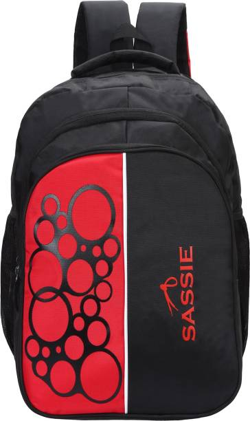 c24e82ba6919 Sassie 41L Black   Red School Bag   Travel Backpack with 4 compartments  (SSN-