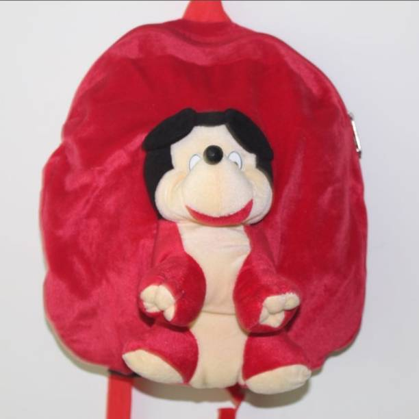 PUNYAH CREATIONS RED MICKEY FULL FACE TOY BAG Plush Bag d91d5635fd181