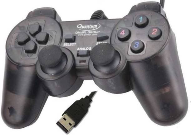 QHMPL QHM7468-2V USB GAMEPAD (BLACK) Enjoy long, comfortable play sessions; thanks to smooth curves and grips.  Joystick