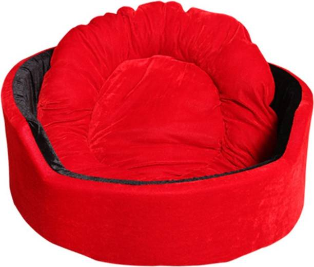 Hiputee Red-Black_VELVET_11561_Small S Pet Bed